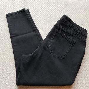 AG Denim Womens 18W Black Stretch Skinny Jeans Siz